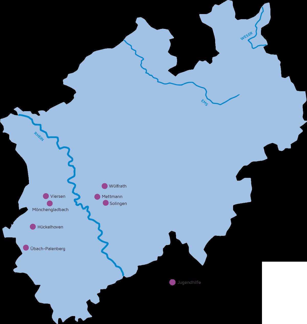 Standorte Hephata Jugendhilfe